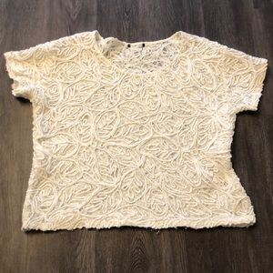 🌼$10 H&M Crochet Cropped Top